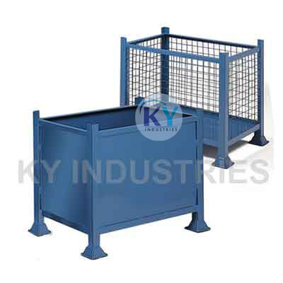 Steel Pallet Box With Wiremesh